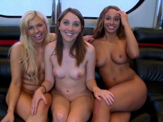 GIRLS GONE WILD – Interracial Lesbian Threesome With Young New Friends