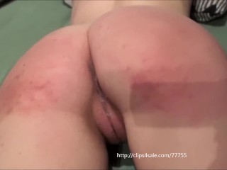 Thiny young girl, spanjed and fucked by an big man