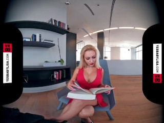 VR 3D 4K BIG FAKE TITS MODEL BIMBO DOLL TEASE RED DRESS LIPS – YESBABYLISA