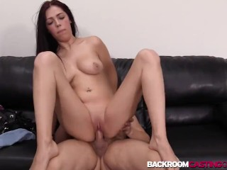 Babe Celine anal banging in POV audition first time