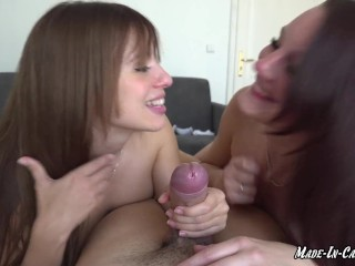 AMATEUR THREESOME | SPANISH TEEN AND CZECH BABE | MADE IN CANARIAS