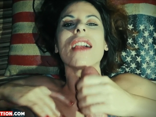 Facial Cumshot Handjob Pov with Two Cameras, Cum in Mouth and Cum Play