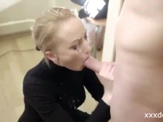 Hot Blonde Teen blows me and makes me cum TWICE