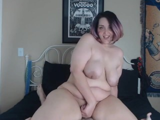 Hot BBW Teen Rides A Big Dick