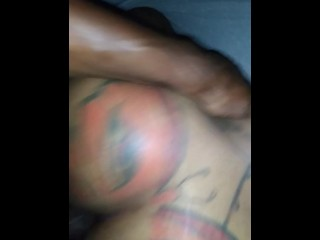 My boo let me get in that fine ass. Amateur big booty black anal