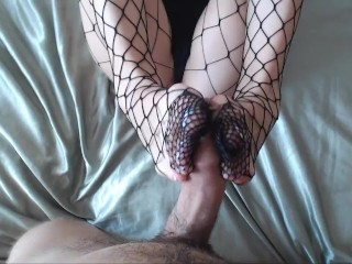 fingering legs and stockings