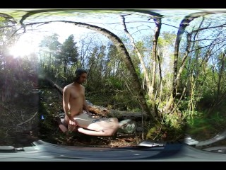 Amateur College Students Outdoor Public Sex in Forest VR