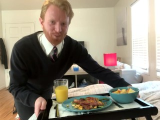 THE BEST BREAKFAST IN BED DELIVERY YOU WILL EVER SEE!!!!!
