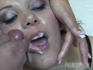 Premium Bukkake – Michelle swallows 74 huge mouthful cumshots