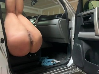Kinky real amateur couple fuck in garage, I had to fuck her ass too!!