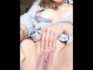 Creamy pussy plays with Dildo while her boyfriend is not home
