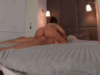 Hot fuck – bj and ride with sexy college girlfriend