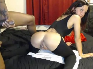 Incredibly huge BBC fucks tiny webcam girl