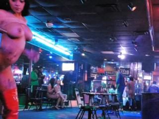 All nude stripper giving a lap dance