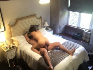Secret hidden cam hotel spy on hot fit couple fucking with cumshot