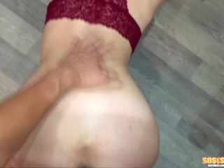 BLOWJOB FROM CUTE GIRL ON THE FLOOR, AND FUCK CANCER
