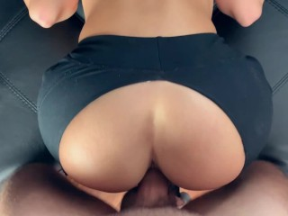 My trainer rips my leggings and fucks me during a workout