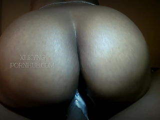 Sneaky Freaky Creamy Reverse Cowgirl Riding THICK Black Cock